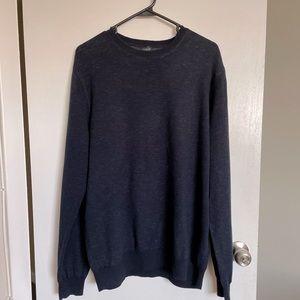 J. Crew Navy Blue Long Sleeve Sweater - Size L